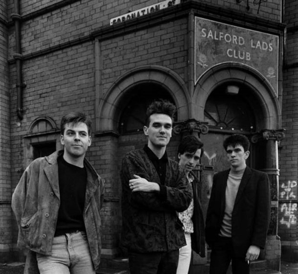 The Smiths Standing Outside Salford Lads Club